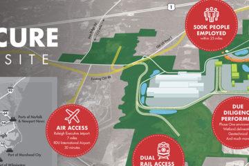 Moncure Megasite Map Chatham County